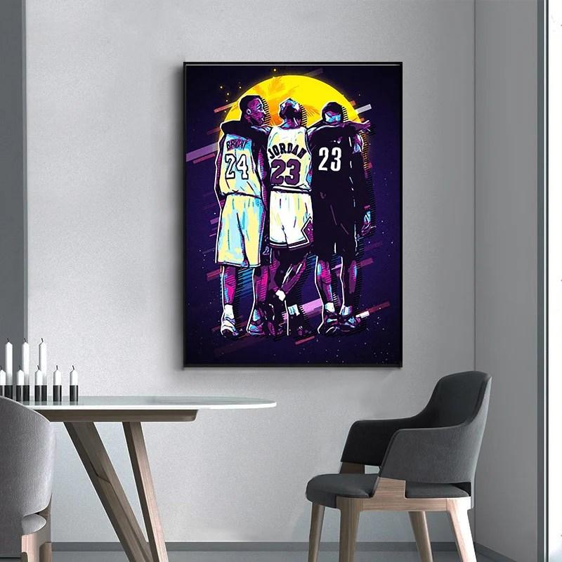 kobe bryant framed wall art poster canvas