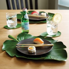 Kitchen Drawer Liners Rubbermaid Trash Can Balihai Tropical Banana Leaf Table Runner | Zillymonkey