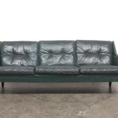 Dark Green Leather Sofa White Bed Chase Sorensen