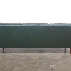 Dark Green Leather Sofa Flex Steel Sofas Chase And Sorensen