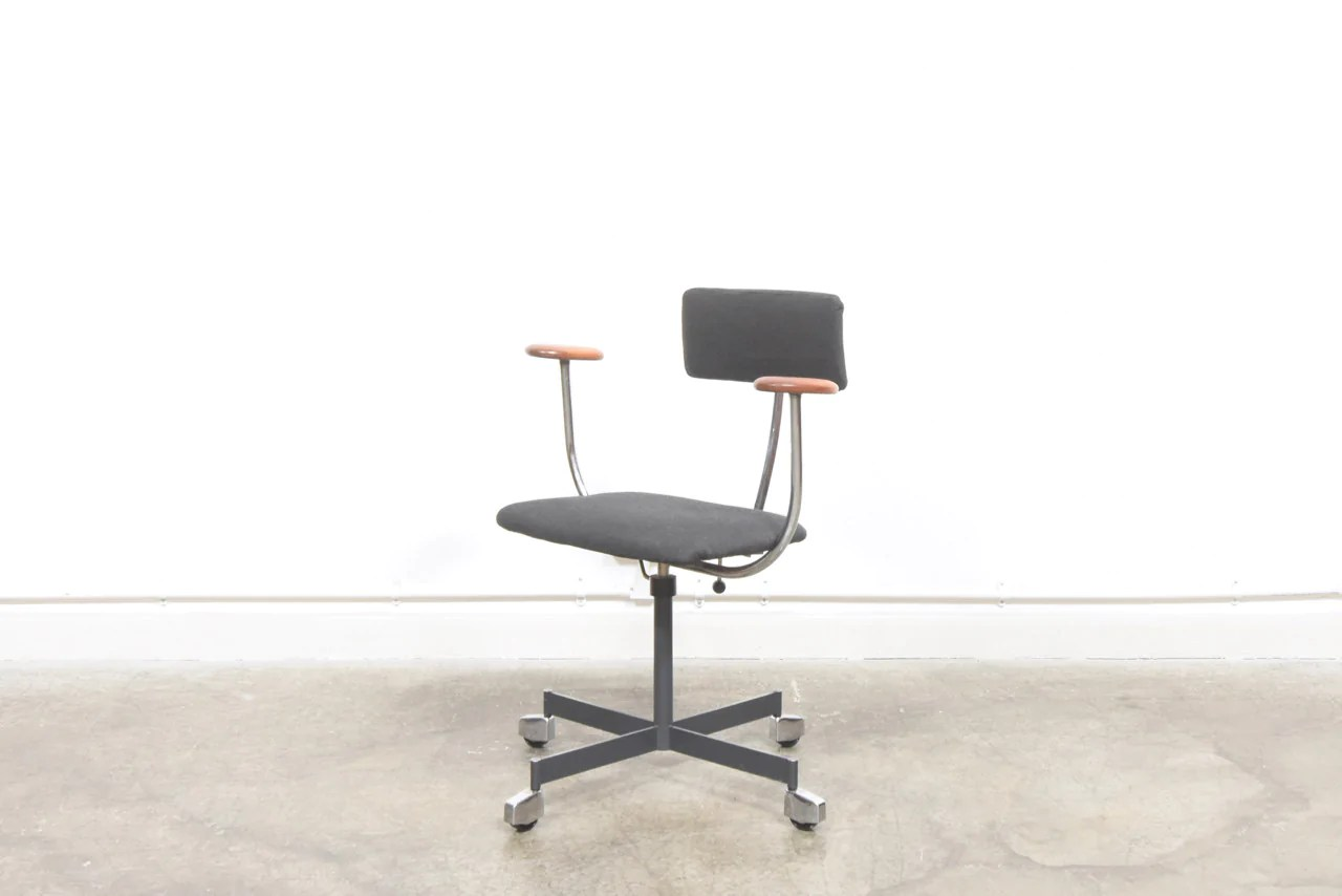 Kevi Chair Task Chair With Teak Arms By Kevi