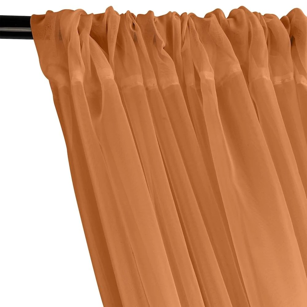 rust sheer voile fabric curtains with