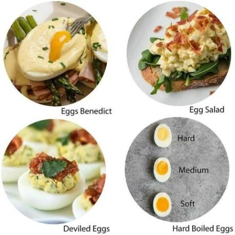 Electric Egg Cooker Boiler 7 Eggs Hard Boiled With Poacher Steamer