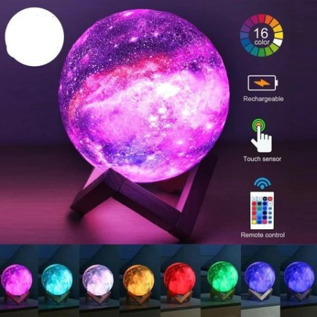 16 Color Changing 3D Moon Lamp Galaxy Lamp Light