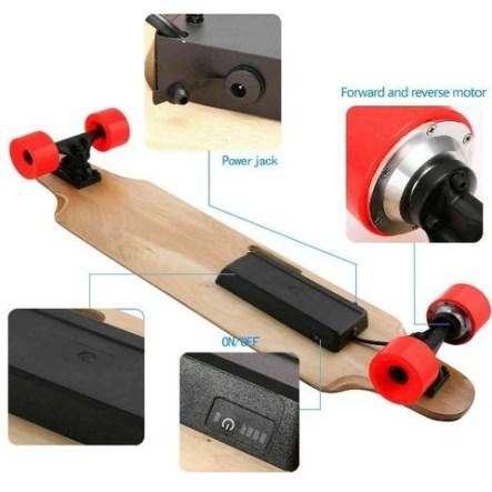 Electric Skateboard 250W Maple Deck Longboard With Wireless Remote Controller
