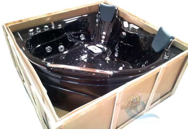 BLACK 2 Person Indoor Jetted Bath Tub Bathtub