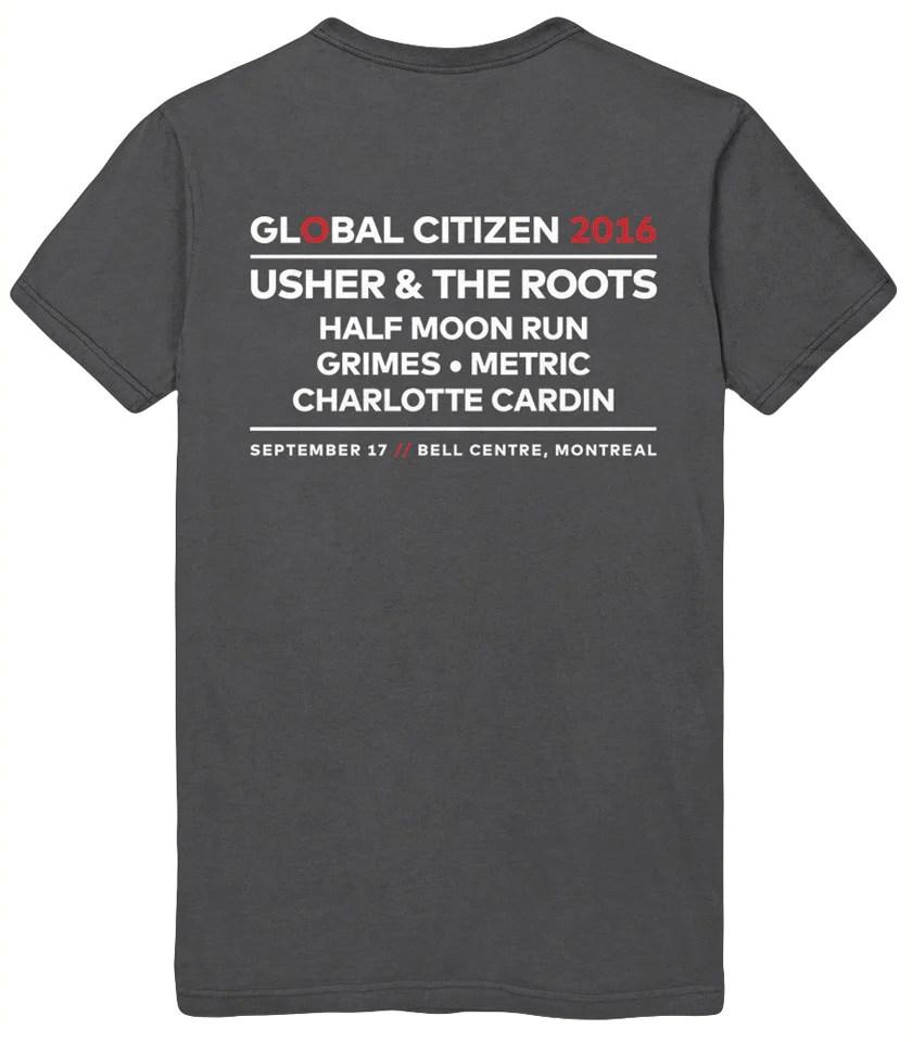 Global Citizen Montreal Official T-shirt Men'