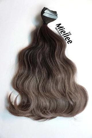 Medium Ash Brown Balayage Hair Extensions Miellee Hair