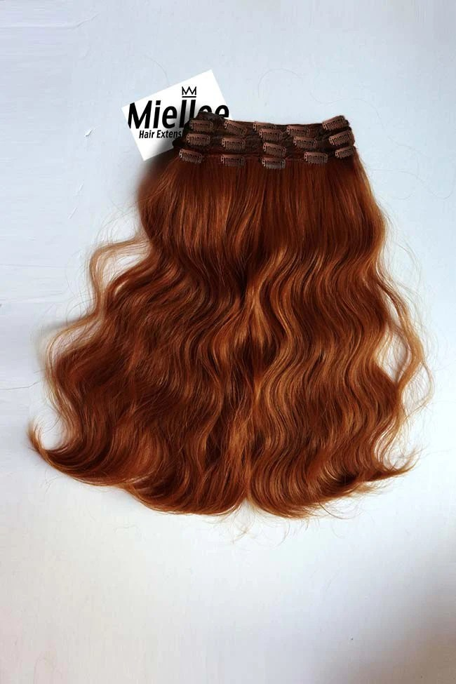 Clip In Extensions Light Copper Red Silky Straight