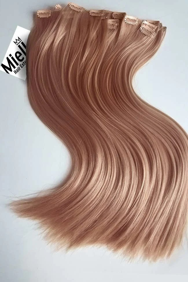 rose gold full head clip in extensions