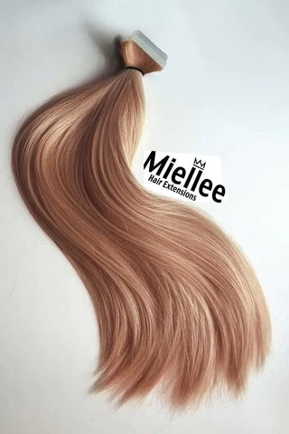 rose gold hair extensions miellee