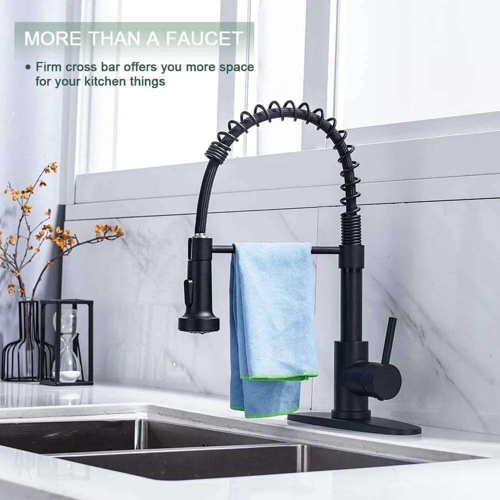 black stainless steel kitchen sink