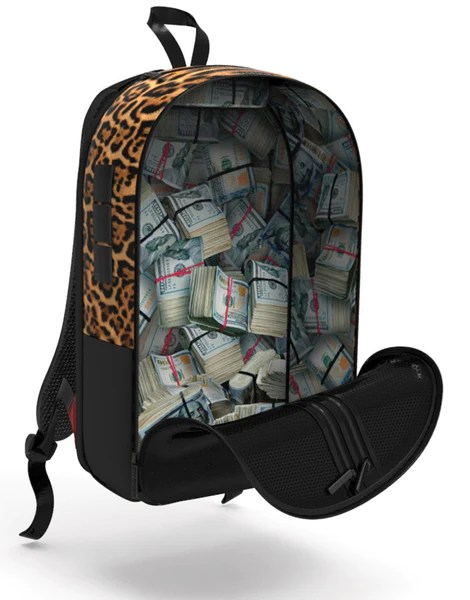 metal kitchen carts pantry shelves sprayground - $tashed money leopard polyester backpack ...