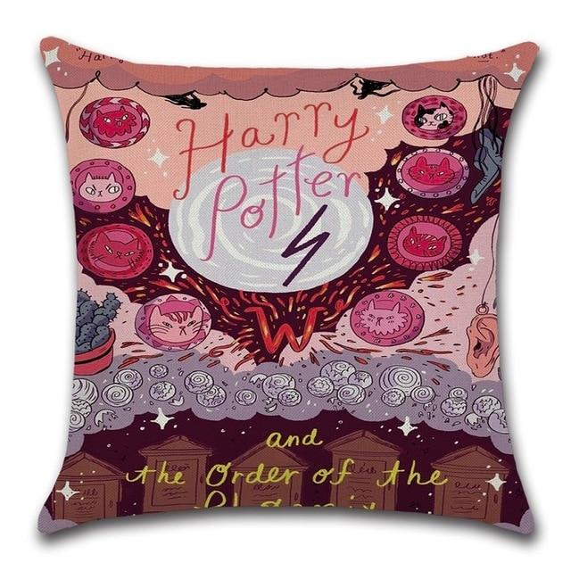 https platform 934 store products harry potter book cover throw pillows case