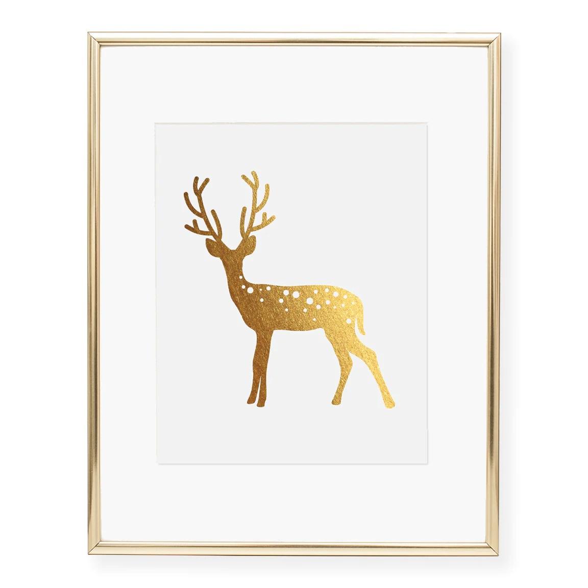 deer foil art print