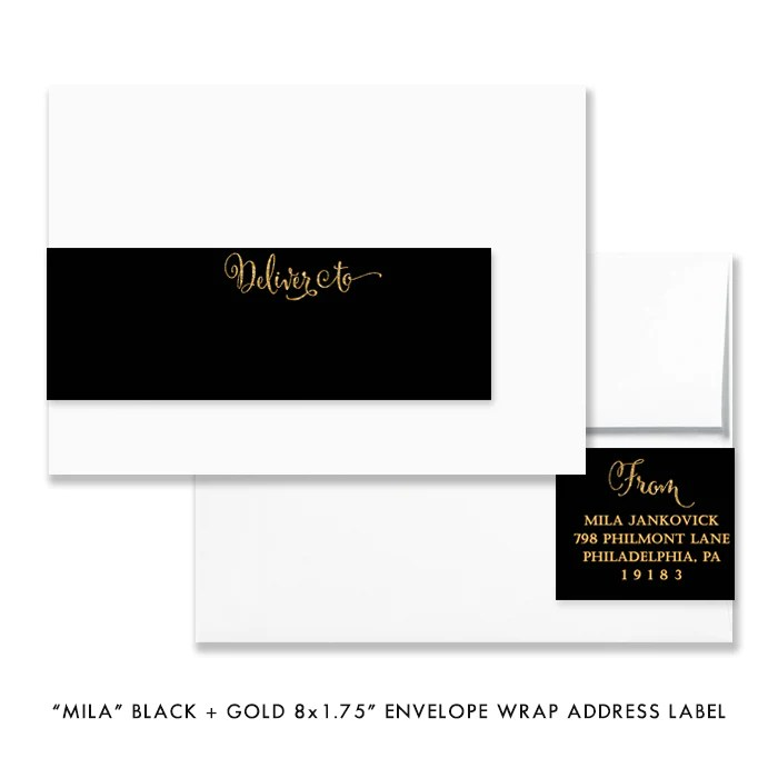 mila black gold envelope