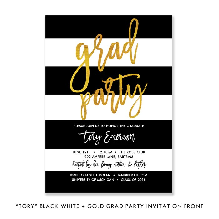 black white gold graduation