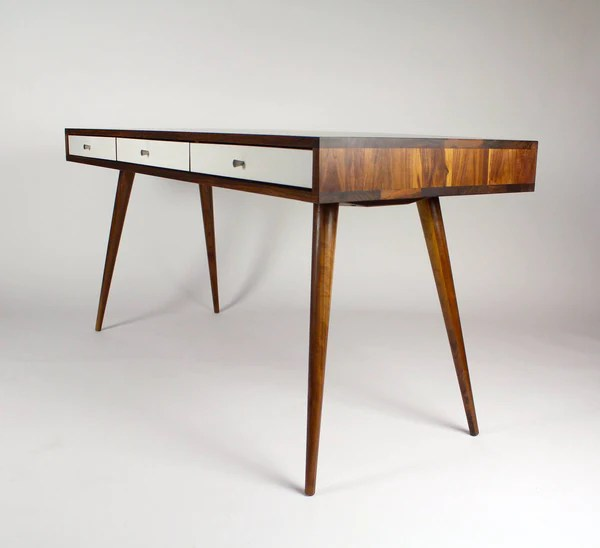 Mid Century Desk with Cord Management  JeremiahCollection