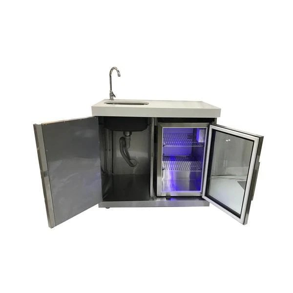 mont alpi beverage center with outdoor fridge and sink stainless steel masf ss