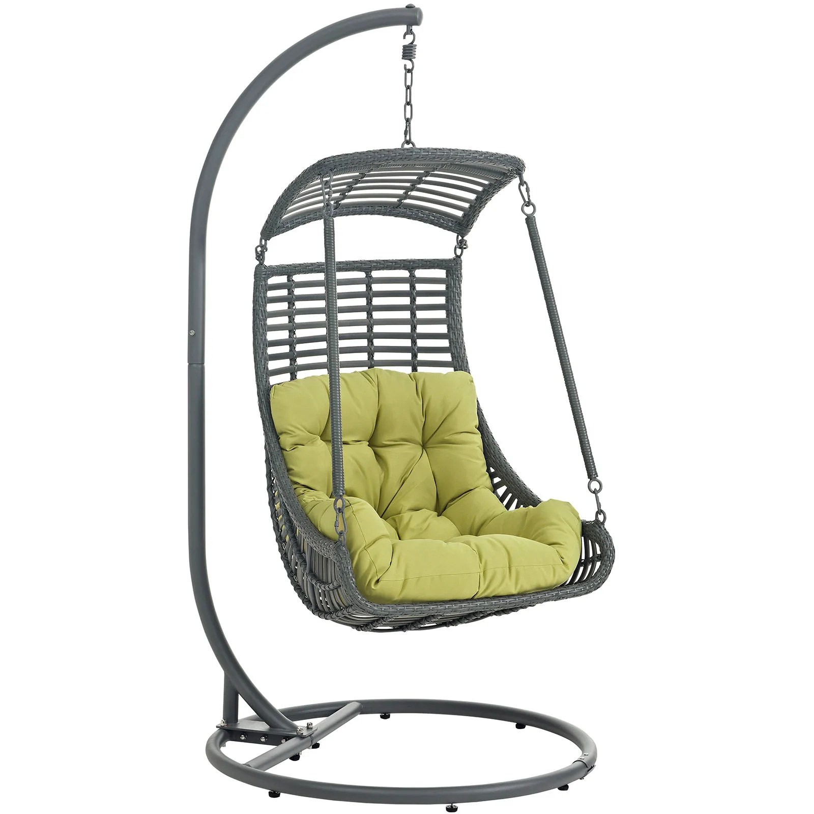 Swing Chair Stand Modway Jungle Outdoor Patio Swing Chair With Stand Eei 2274