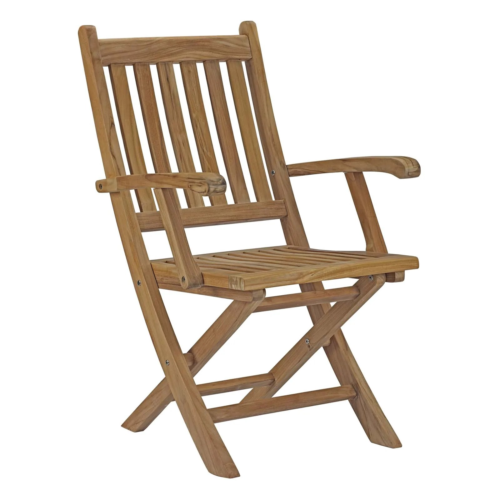 Patio Folding Chairs Modway Marina Outdoor Patio Teak Folding Chair Eei 2703