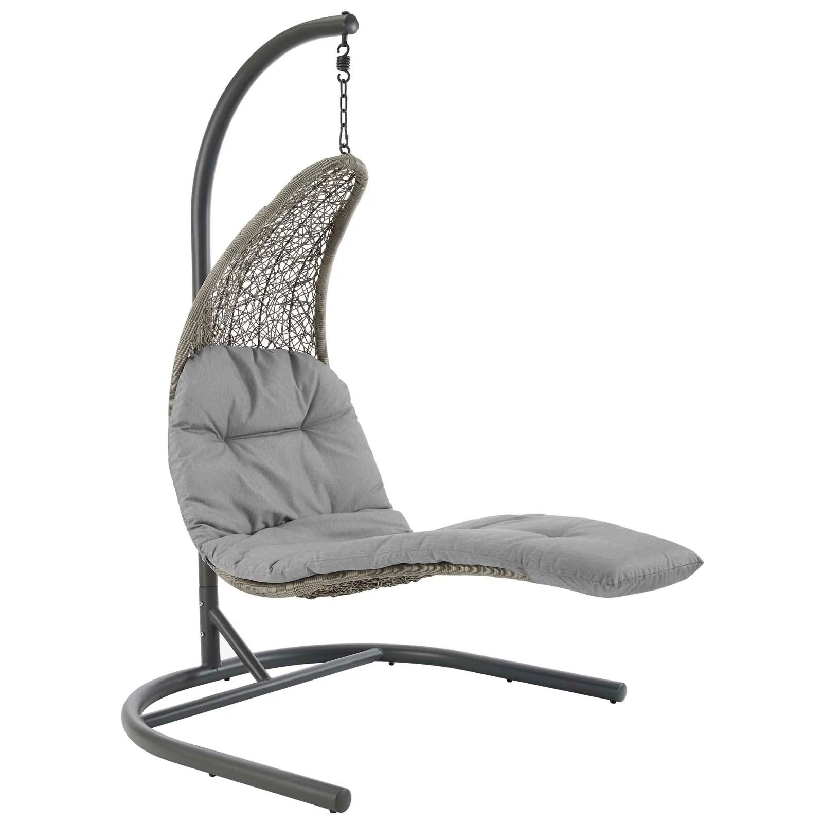 Hanging Chair Outdoor Modway Landscape Hanging Chaise Lounge Outdoor Patio Swing Chair Eei 2952
