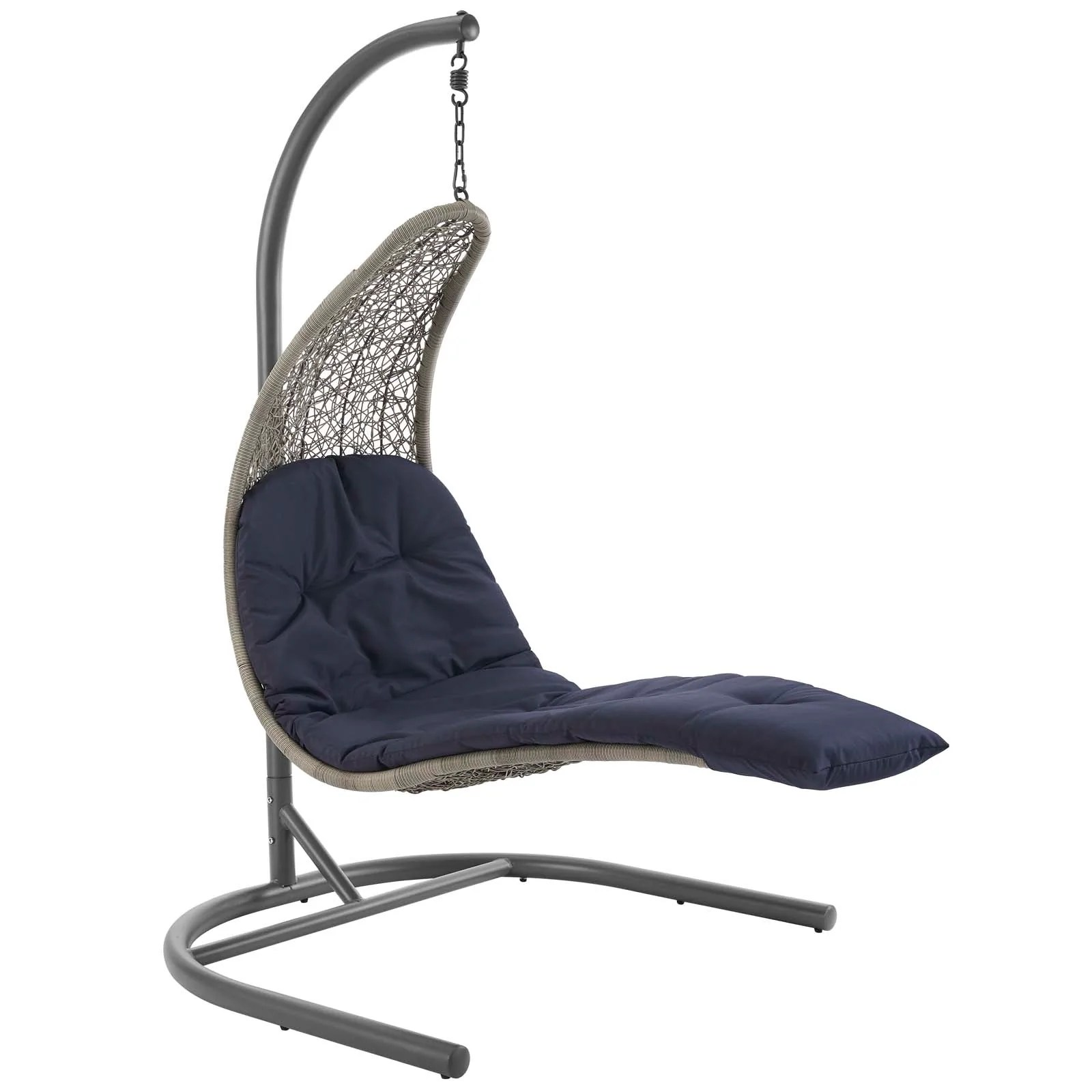 Hanging Patio Chair Modway Landscape Hanging Chaise Lounge Outdoor Patio Swing Chair Eei 2952