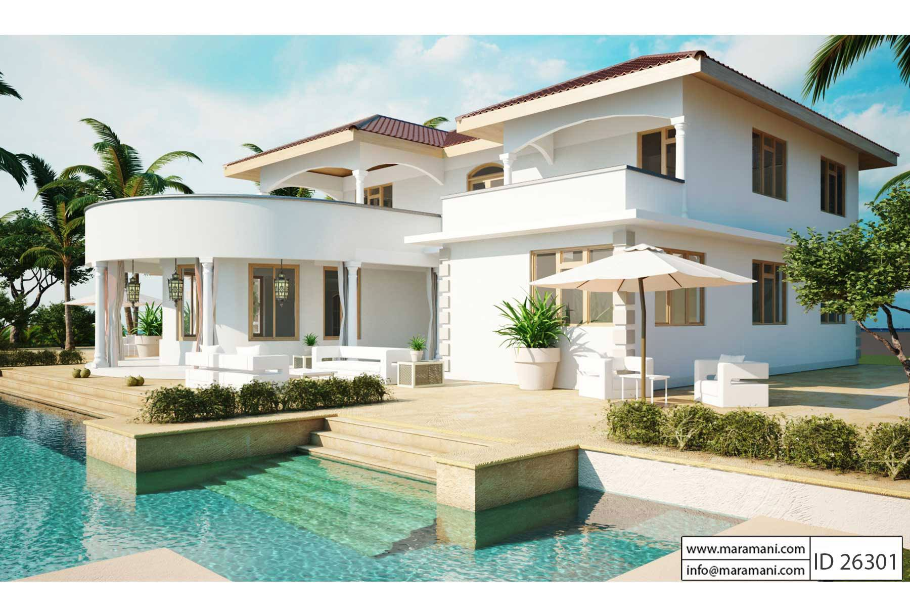 2 Story House Plans with Pool
