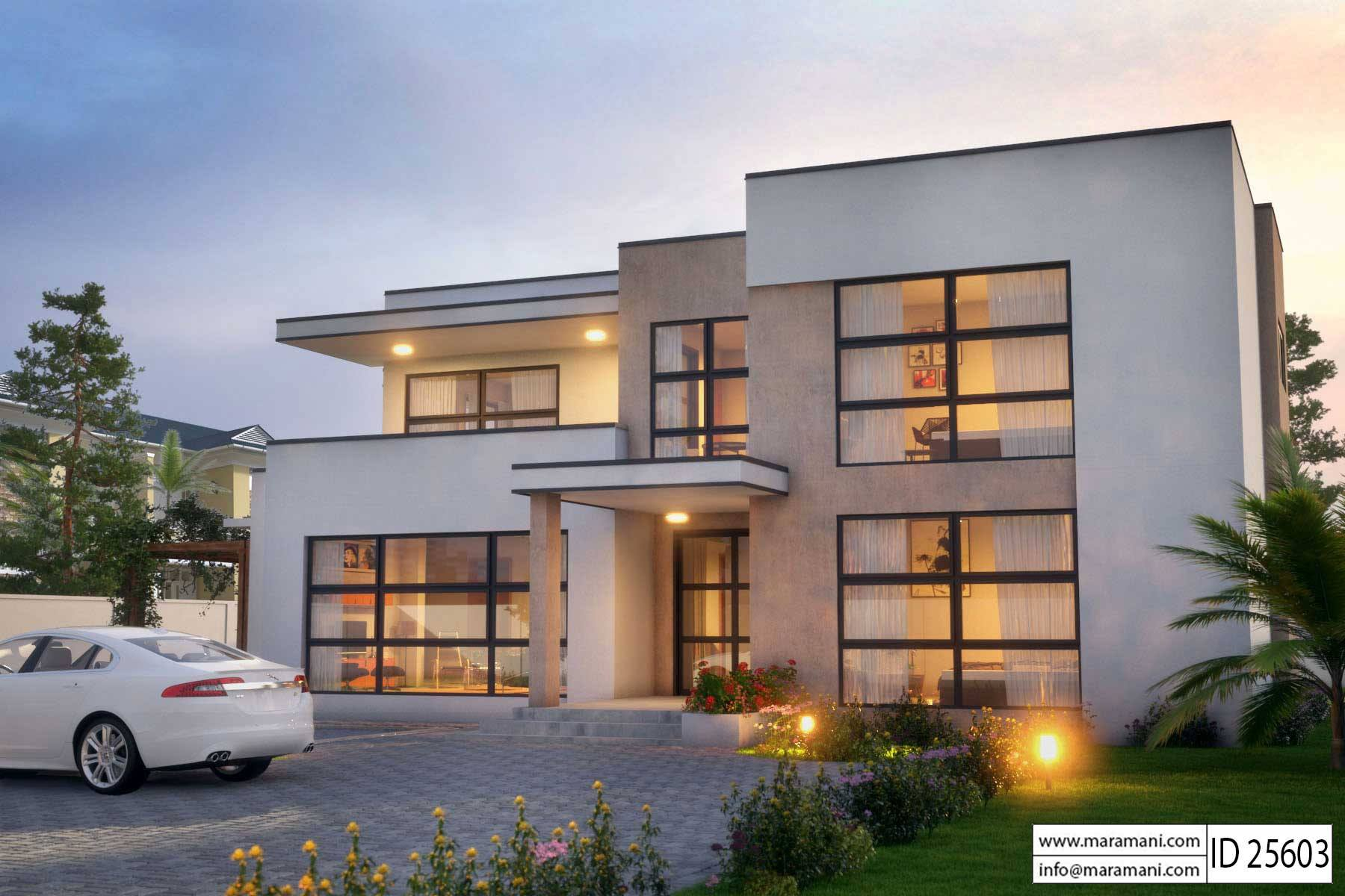 Modern 5 Bedroom House Design - Id 25603 Floor Plans
