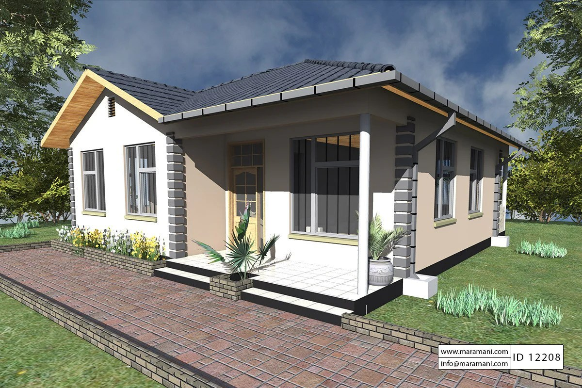 2 Bedrooms House Plan - Id 12208 Plans Maramani