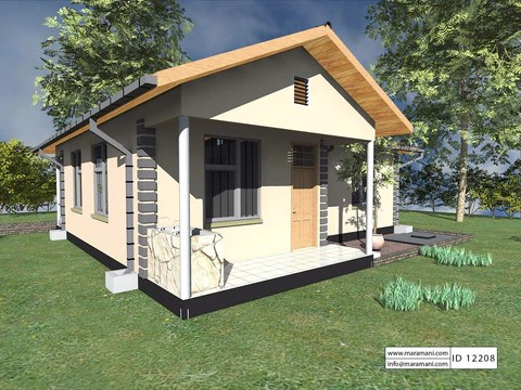 2 Bedroom House Plan Id 12208 House Plans By Maramani