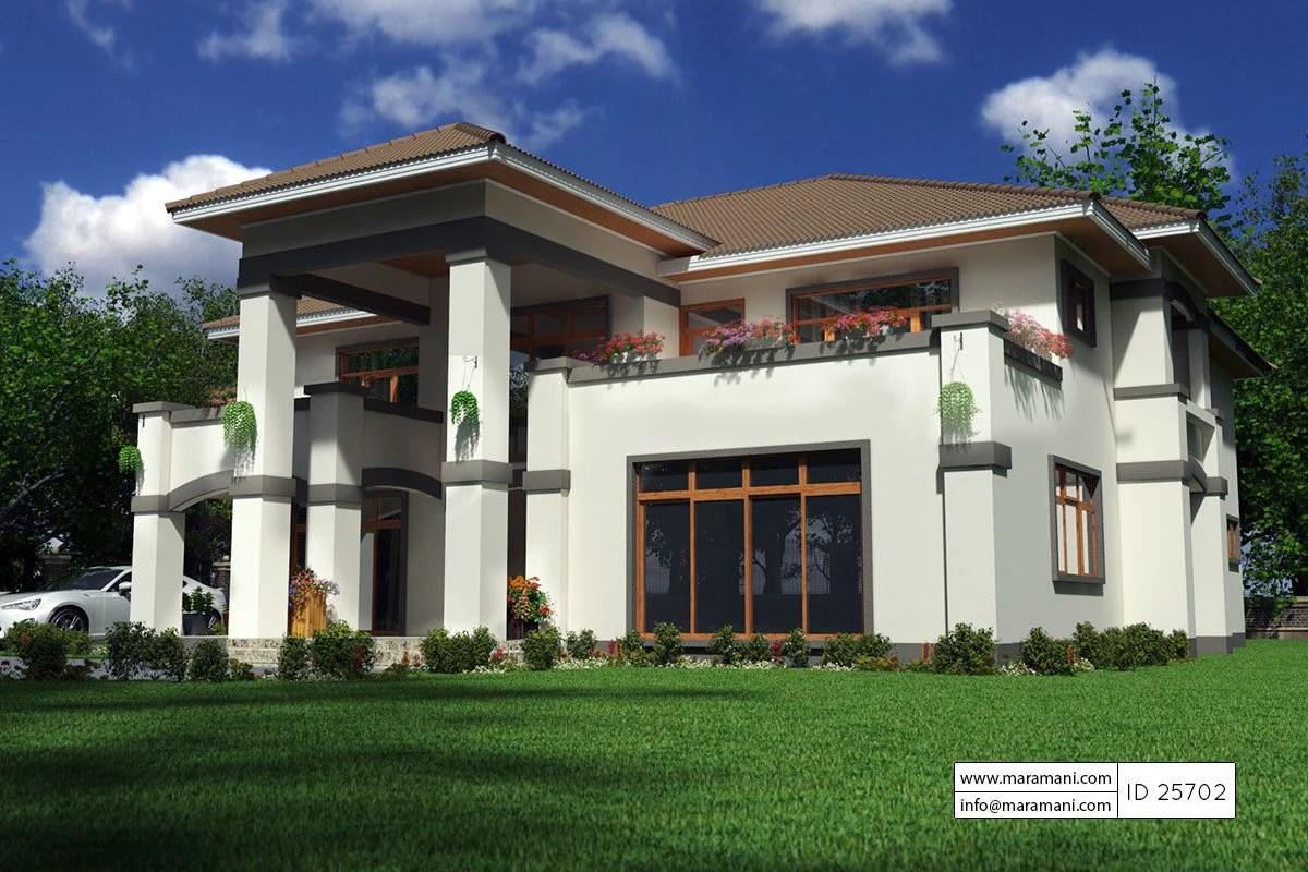 5 Bedroom Bungalow House Plan - 25702 Floor Plans