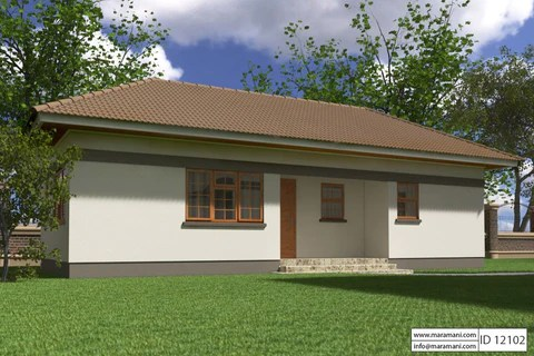 2 Bedroom House Plan  ID 12102  House Designs by Maramani