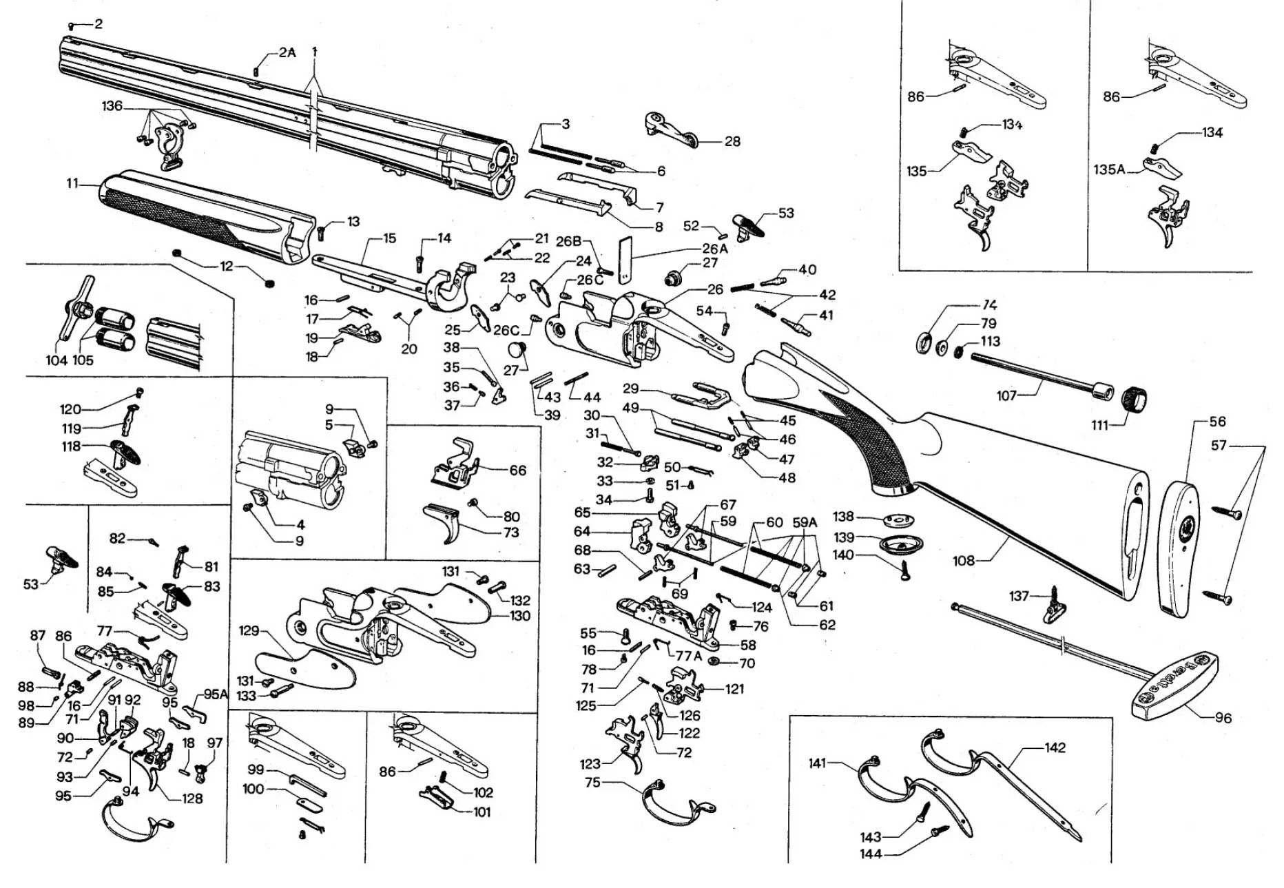 mossberg 500 trigger assembly diagram pt cruiser wiring pdf beretta shotgun parts related keywords - long tail ...