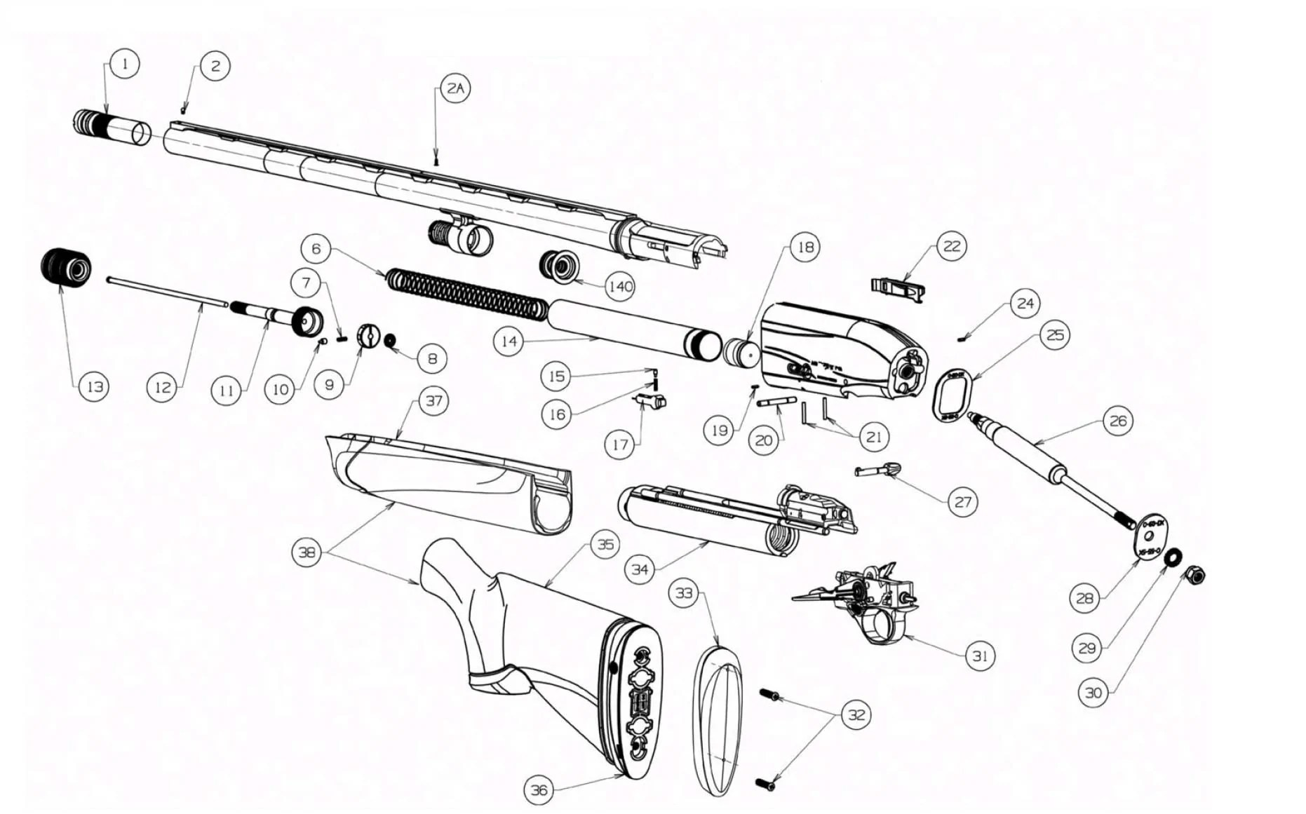Browning Bolt Parts Breakdown