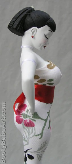 Double D Kokeshi  limited edition Booty Babe Art statue