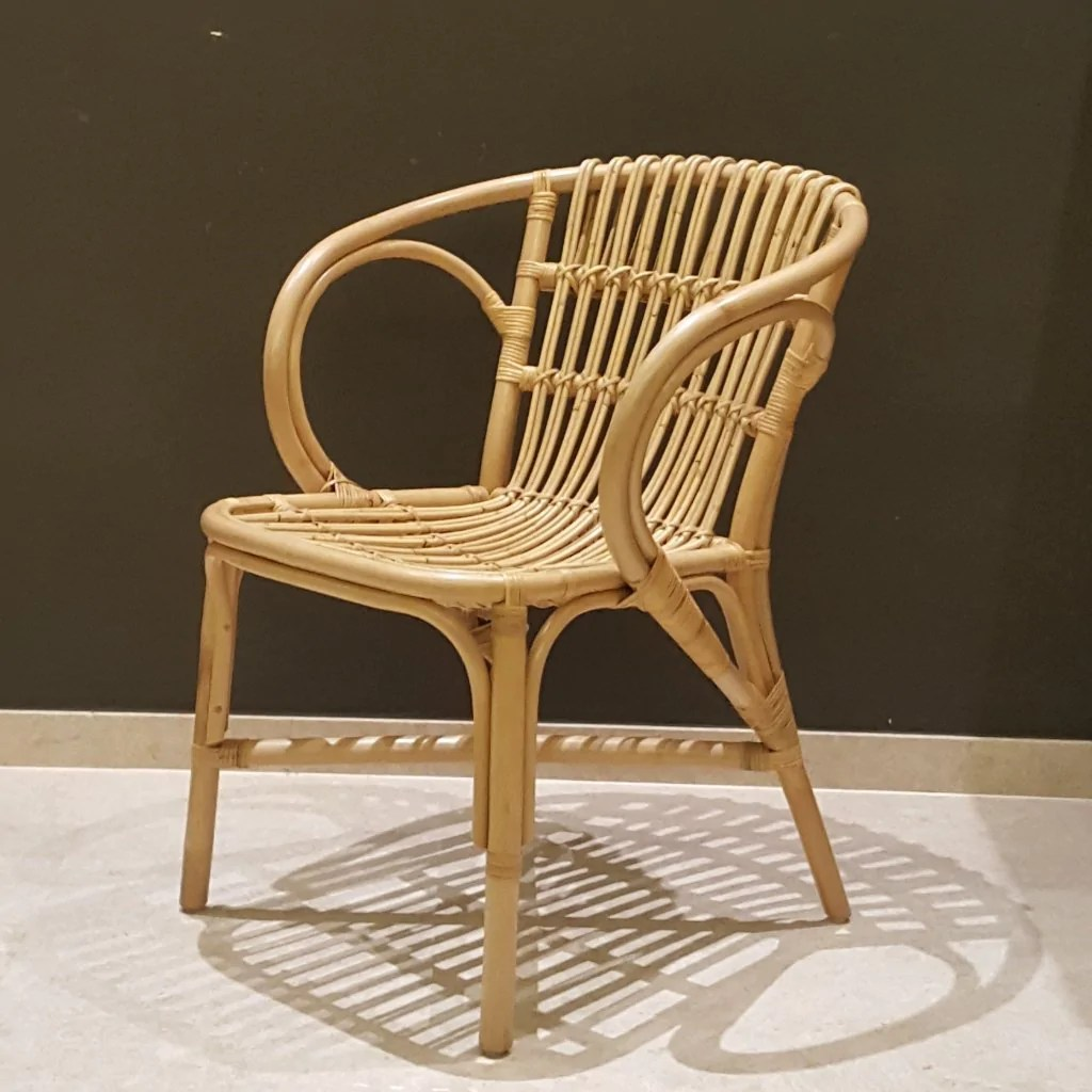 Rattan Accent Chair Modern Retro Yellow Painted Rattan Lounge Chair Hemma Sg Hemma