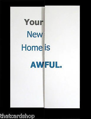 Funny Fold Out New Home Card Rude Card Pops Up Revealing