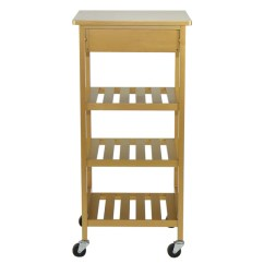 Rolling Cart For Kitchen Decor Accessories Oceanstar Storage Bkc13 874c