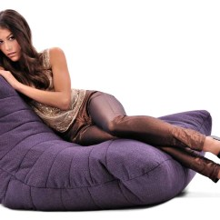 Purple Bean Bag Chair Oversized Patio Chairs Acoustic Sofa Singapore