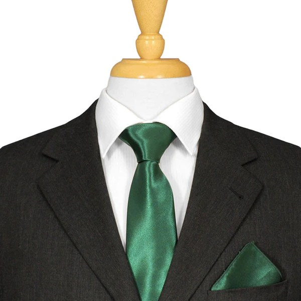 Bottle Green Ties  Mens Formal