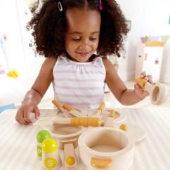 Hape Kitchen Best Faucet Wooden Gourmet Starter Set Bubble Belly Moms