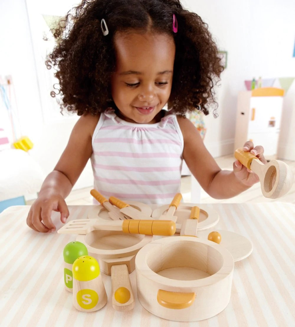 hape kitchen cabinets colors wooden gourmet starter set bubble belly moms