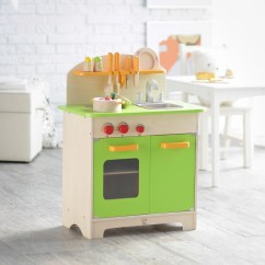 Hape Kitchen Stools Walmart Gourmet Kids Wooden Play In Green E3101