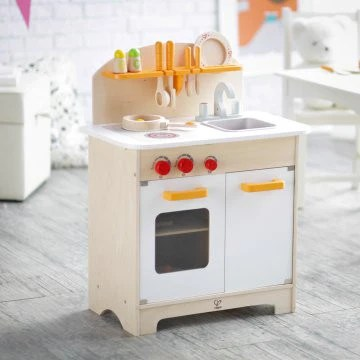 hape kitchen outdoor pergola gourmet white or green bubble belly moms babies wooden play for kids sustainable chef s