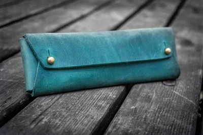 leather pen pouches handmade