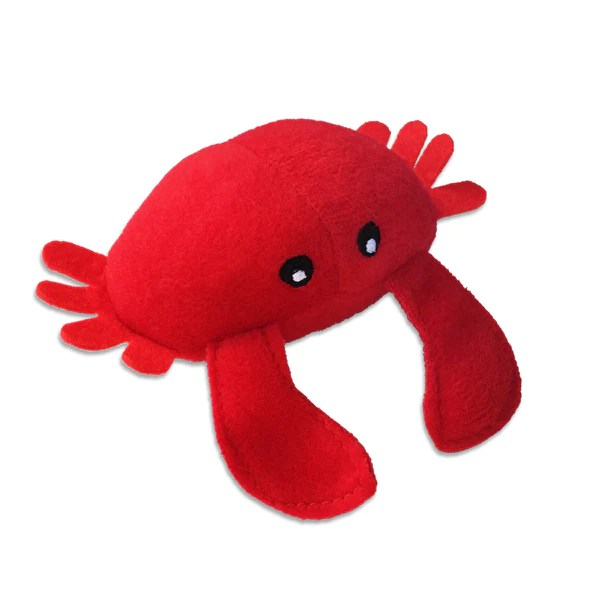 Small Dog Squeaker Toy Cute Little Red Crab Dog Toy Mini