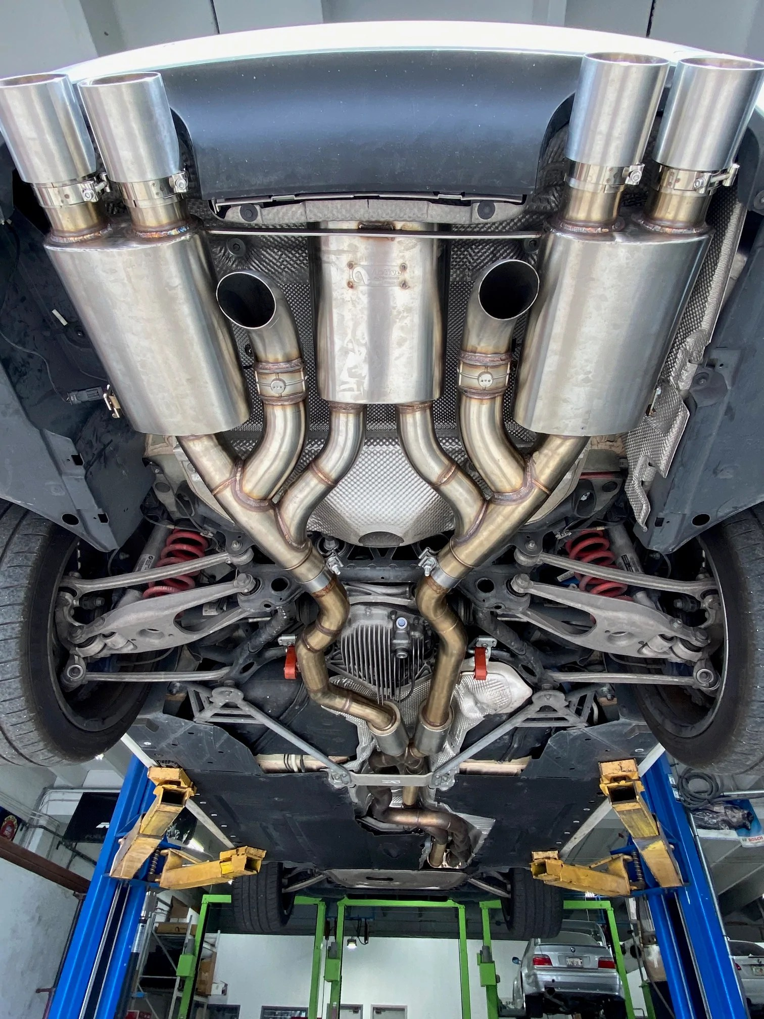 maad maxx f8x bmw m3 m4 rear exhaust section 3 can valved