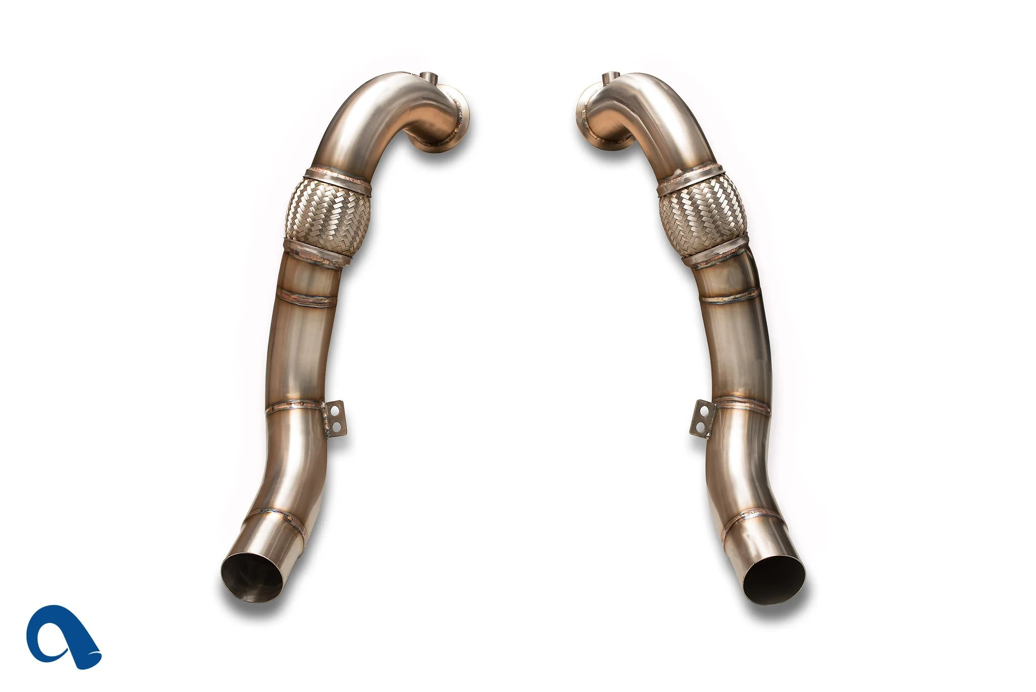 hight resolution of bmw n63 downpipes for twin turbo v8 bmw x5 and x6 f10 550i by bmw active autowerke