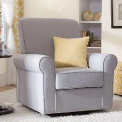 Delta Avery Nursery Glider Chair Grey Bunjo Canada Upholstered Children